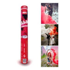 Цветной дым мегапир МДП 60 сек красный
